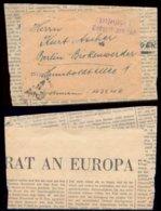 14472 DR Feldpost Zeitungsteil , Bei Der Feldpost Eingeliefert - Berlin , Bedarfserhaltung. - Briefe U. Dokumente