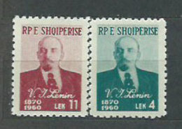 Albania Correo 1960 Yvert 522/3 Mnh ** Lennin - Albanien