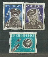 Albania Correo 1963 Yvert 611/3 Mnh ** Astronomia - Albanien
