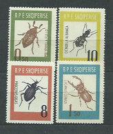 Albania Correo 1963 Yvert 616/9 Mng (*) Fauna Insectos - Albanië
