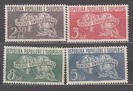 Albania Correo 1957 Yvert 475/8 Mnh ** Sindicatos Obreros - Albanien
