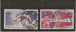 WALLIS ET FUTUNA - POSTE AERIENNE N°39 ET 40 OBLITERE -ANNEE 1971 - Poste Aérienne