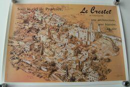 Affiche Le Crestet En Vaucluse Couston Vaison A.M.A.C Illus:Ch.Schmitt - Plakate