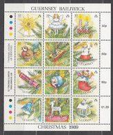 Guernsey - Correo 1989 Yvert 472/83 ** Mnh Navidad - Guernsey