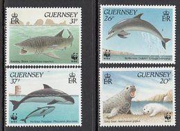 Guernsey - Correo 1990 Yvert 499/502 ** Mnh Fauna Marina - Guernsey