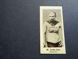Chromo ( 1485 ) ( 5 X 2,50 Cm )  Cycliste  Coureur  Wielrenner  Renner  Cycliste :  Jules Lowie  Kruishoutem - Cyclisme