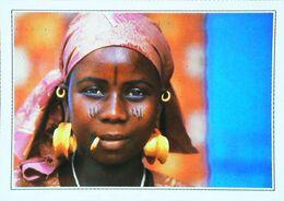 Sierra   Leone  Type Femme Djalloude  Woman   Scarification    Bijou Cigarette      - Années 1980s - Sierra Leone