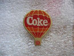 Pin's Mongolfiere Avec Publicité COKE - Airships