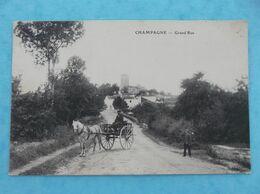 17: CHAMPAGNE : GRAND'RUE , Animée , C.P.A ,en Bon état - Autres Communes