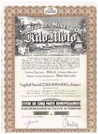 Titre Ancien- Société Des Mines D'Or De Kilo-Moto - Sté Congolaise à Responsabilité Limitée - N° 063196 A 063200 - Mines