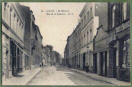 CPA Vue Rare - NORD - LILLE - SAINT MAURICE RUE DE LA LOUVIERE - Animation, Commerces - édition E. Cailleux / 4 - Lille