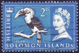 BRITISH SOLOMON IS 1965 QEII 2d Black, Ultramarine & Light-Blue SG115 FU - British Solomon Islands (...-1978)
