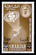 Sharjah, 1963, Fight Against Malaria, WHO, United Nations, MNH Overprinted, Michel 47 - Sharjah