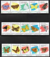 M ++ CARIBISCH NEDERLAND BONAIRE SABA ST EUSTATIUS 2020 VLINDERS BUTTERFLIES PAPILLON SCHMETTERLING  ++ MNH POSTFRIS - Curazao, Antillas Holandesas, Aruba