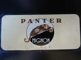 Boîte Métallique De Cigares Panter / Mignon, Vide - Boites à Tabac Vides