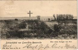CPA Gravelotte Schlachtfeld Von Rezonville Kreuz 1870 1904 - Francia