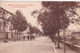 ESPAGNE GERONA Paseo De San Francisco Y Cuartel De Artilleria - Gerona