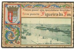 PORTUGAL-POSTCARDS---PUBLICIDADE--COIMBRA-- FIGUEIRA DA FOZ-DOCA E ABRIGO DAS PEQUENAS EMBARCAÇÕES- - Coimbra
