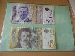 National Bank Of Sewrbien 10 Und 50 Dinara  2005/20013 - Serbia