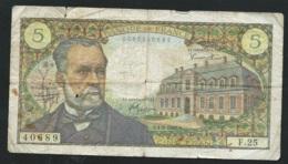 Billet/Banque De France / 5 Francs / Pasteur / 1966  -  40889  F.25 Laura5209 - 1962-1997 ''Francs''