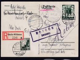 DR.,  Ganzsache Mi.-Nr  P 268 Als R-Ausland-Karte Nach Moskow Gelaufen - Non Classificati