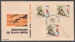 CUBA 1963. PRIMER ANIVERSARIO DE LA VICTORIA DE PLAYA GIRÓN. EDIFIL 919/21 - FDC