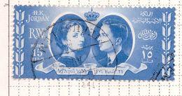 PIA - GIORDANIA - 1955 - Matrimonio Del Re Hussein - (Yv 296) - Giordania
