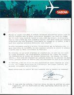 1965 - Courrier Publicitaire SABENA Pour La Destination De Dubrovnik - Voir Scan - Advertisements