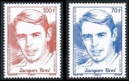 POLYNESIE 2009 - Yv. 867 Et 868 ** TB  Faciale= 1,43 EUR - Jacques Brel (2 Val.)  ..Réf.POL25309 - Polinesia Francesa