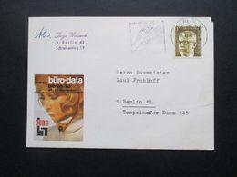 Berlin 1973 Heinemann Nr. 427 EF Ortspostkarte Werbedruck Büro Data Berlin 73 - Cartas