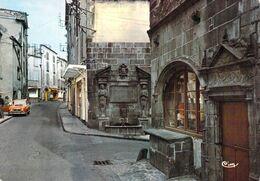 63 - Riom - Rue Gomot - Maison De L'Artisan Et Fontaine D'Adam Et Eve (XVIe Siècle) - Riom
