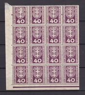 Danzig - Portomarken - 1921 - Michel Nr. 3 Bogenteil Ecke - Postfrisch - 60 Euro - Danzig