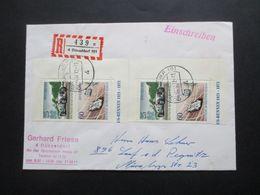 Berlin 1972 Block 3 / 2 Rechte Hälften Auf Einschreiben Fernbrief Düsseldorf - Nürnberg - Cartas