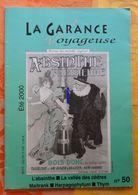 La Garance Voyageuse été 2000 N°50 : Absinthe, Chypre, Harpagophytum, Trigance (Var), Poirier, Thym, Maitrank - Nature