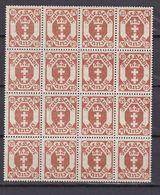 Danzig - 1923 - Michel Nr. 126 Y Bogenteil - Postfrisch - 50 Euro - Danzig