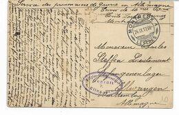 WW1- Censure Du Camp De ELLWANGEN Sur Cpa De  MONTREUX SUISSE 24 IX 17 Pour Un Lieutenant Prisonnier De Guerre  2 Scans - Poststempel