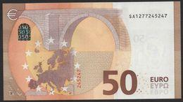 """50 EURO ITALIA  SA  S015  Ch. """"27""""  - DRAGHI   UNC - EURO"""