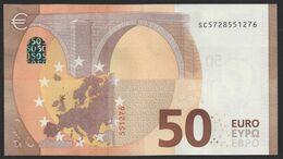 """50 EURO ITALIA  SC  S033  Ch. """"72""""  - DRAGHI   UNC - EURO"""