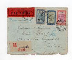 !!! RAID PARIS - TANANARIVE PAR ROUX, CAILLOL ET DODEMONT VOYAGE RETOUR, LETTRE ACCIDENTEE - Air Post
