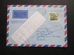 Zimbabwe 1998 Luftpost Nach Australien Klebezettel Redirected Mail Only Balodis, (Miervaldis) / Balodis Ausma - Zimbabwe (1980-...)