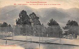 TENNIS-LES TENNIS DU GRAND HÔTEL ET LE CAMBRE D'AZE- A FONT-ROMEU , 66 - Tenis