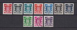 Saarland - Dienstmarken - 1949 - Michel Nr. 33/38 + 40/43 - Gestempelt/Postfrisch - 1947-56 Protectorate