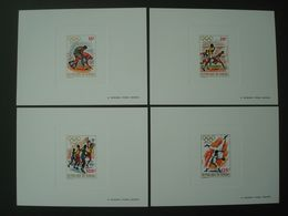 SENEGAL 1972 4 LUXE PROOFS OLYMPIC GAMES MUNICH Nr 368-371 JUDO LUTTE BASKET-BALL ATHLETISM - Senegal (1960-...)