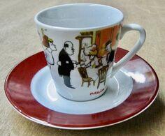 TASSE AVEC SOUS-TASSE MAXIM'S ( LA BELLE EPOQUE ) / MAXIM'S DE PARIS - Cups