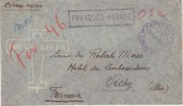 PARAGUAY : PA . AFFRANCHISSEMENT PAYE EN NUMERAIRE . POUR LA FRANCE . 1946 . - Paraguay