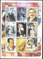 M2651 ✅ Disney Cars Music Cinema Art Renoir Composers Millennium 1998 Niger Sheet 9v MNH ** - Cinema