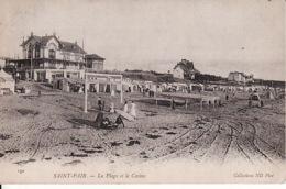 PA 64 Saint Pair, La Plage Et Le Casino (plis Minuscule Droite) - Saint Pair Sur Mer