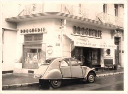 Citroën 2cv Automobile C.1950 à Toulon 2 Rue Castel Droguerie Gde Photo 13x18cm - Automobiles