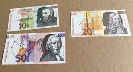 3 Billets : Slovénie, 10, 20 & 50 Tolarjev, 1992 (Neuf) - Slowenien