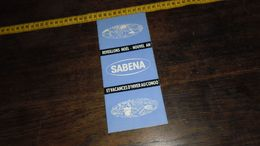 SABENA  ... __ ANNO 19 ??__ ( Lot : Ismo 12 ) - Commercial Aviation